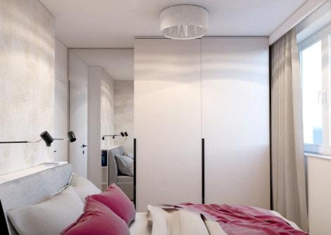 Projekt wnętrza w Rzeszowie - mała sypialnia